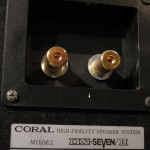 CORAL DX-7Ⅱ 3way speaker systems (pair)