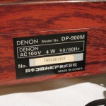 DENON DP-900M analog disk player system