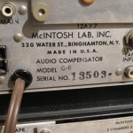 McIntosh C8+C8S monoral preamplifiers (set)
