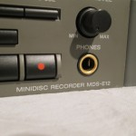 SONY MDS-E12 professional MD recorder