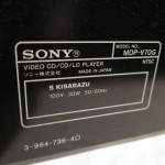 SONY MDP-V70G LD/CD player