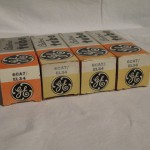 General Electric 6CA7/EL34 pentode power tubes (4pcs)
