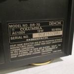 DENON DR-70 stereo audio tape recorder