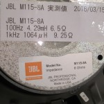 JBL M115-8A LF transducers (pair)