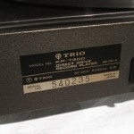 TRIO KP-7300 analog disc player