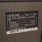 DIATONE DA-F750 FM/AM tuner