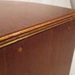 Hand-made wood horns (pair)