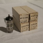 Matsushita 6AQ8/ECC85 medium-μ twin triode tubes