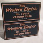Western Electric 300B/MP triode vaccum tubes (pair)
