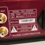 Triode TRV-A300XR tube integrated amplifier