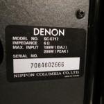 DENON SC-E717 2way speaker systems (pair)