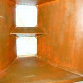 15inch ユニットが縦に2本収まります。表面はハンドペイントで塗装されています。