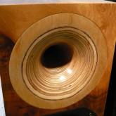 木製ホーン部の拡大写真です。