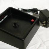 赤いボタンで消磁スタート、ディスクが高速回転します。