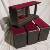 TAOC の鋳鉄製スピーカーベース、4個セットです。