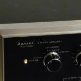 [SANSUI] 旧ロゴです。power SW はスピーカーセレクター兼用ロータリー式です。