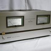 デノン(デンオン)のステレオパワーアンプです。比較的コンパクトな筐体です。