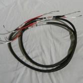 DENTEC の銀単線スピーカーケーブルです。長さは 1.0m です。
