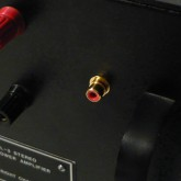 入力端子は RCA に交換されていますが、パネル部の加工なしに端子のみ交換されているため、いつでも元の LEMO に戻せます。