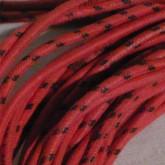 線材はそれぞれ RED・RED/BLACK で識別されています。長さは 3.4m pair です。