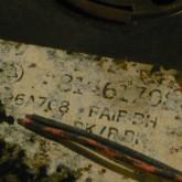 スプールの製品表示の拡大写真です。WE ベルマークが確認できます。