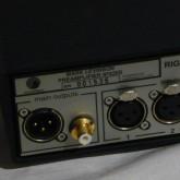 出力端子は XLR/RCA 1系統ずつです。