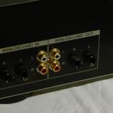 アナログ入出力は RCA/phone が装備されています。